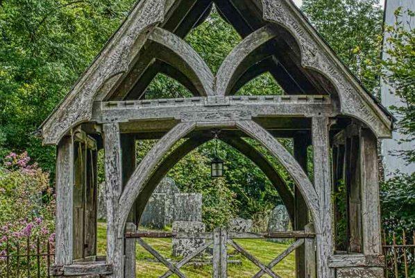 Church Gate Arts And Crafts Wood Carving Plain 20th Century Bradford