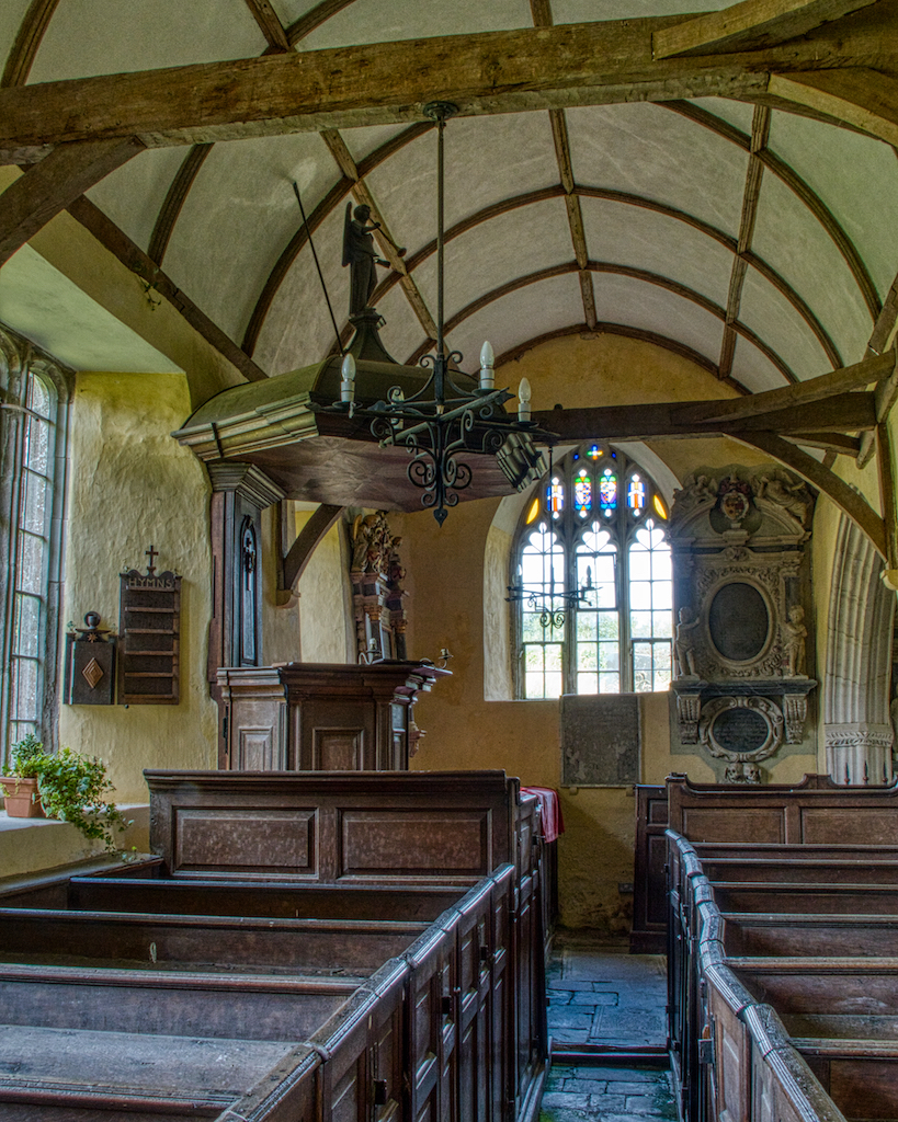The vicar too sat here, under the pulpit