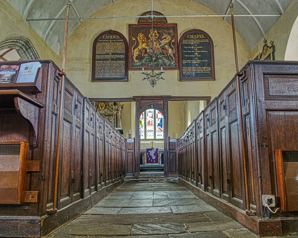 Looking up the nave