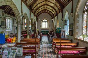 Church Interior Nave Pillar 15th Century Medieval Bradford