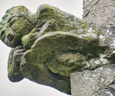 Grotesque Stone Carving Plain Apotropaic 15th Century Medieval Tower Molland