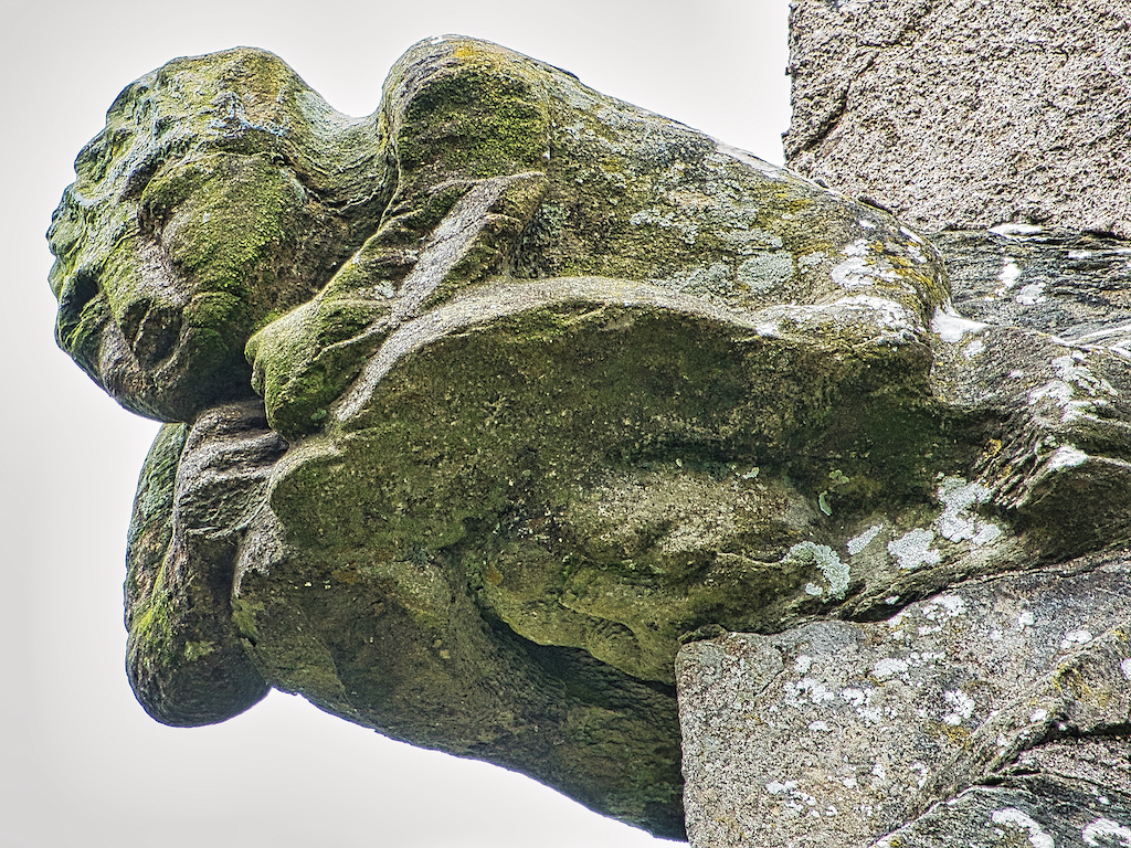 A 'grotesque', or 'Babewyn' as they were called, on Molland tower