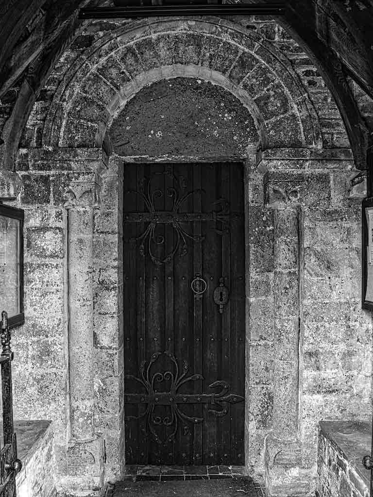 The Norman doorway at the south entrance