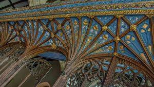 Rood Screen Wood Carving Coloured Cornice Vaulting 15th Century Medieval Burrington