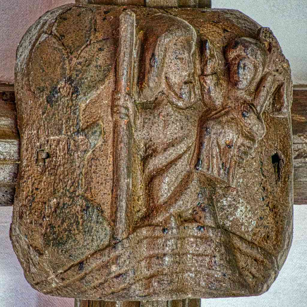 A St Christopher roof boss, one of only three in the country