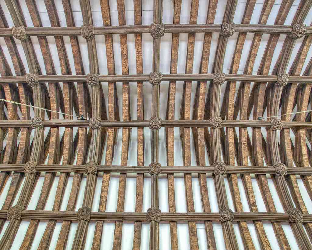 A goodly timber roof