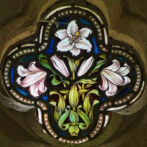 Stained Glass Lily 19th Century Victorian Bradford