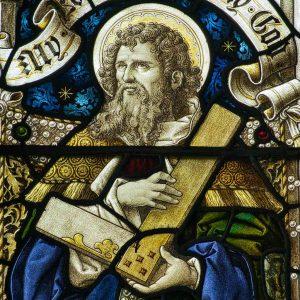 Stained Glass Saint Thomas Victorian 19th Century Burrington