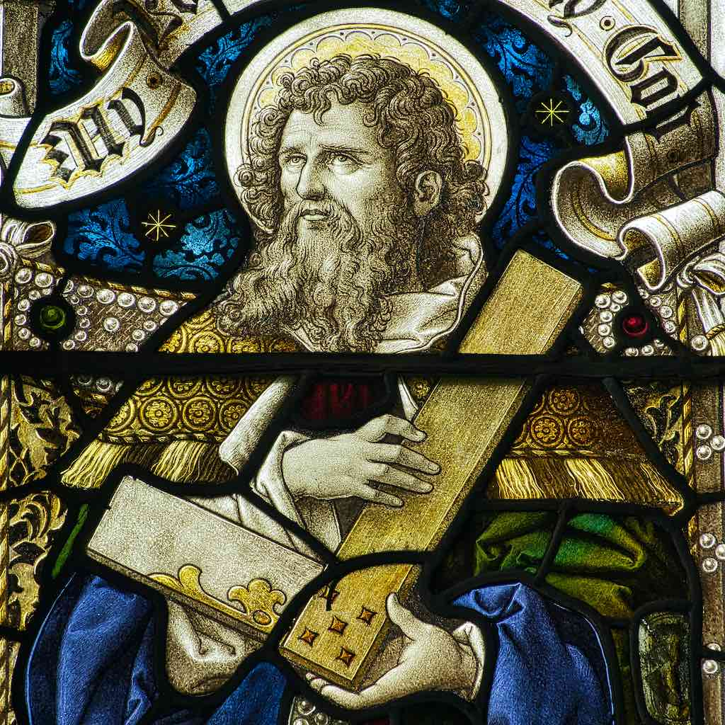 St Thomas with his setsquare
