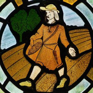 Stained Glass Sowing Robert Paterson 20th Century Bradford