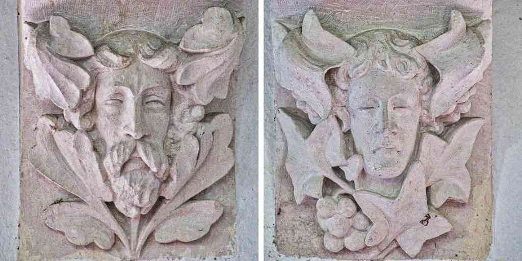 Local donors commemorated in the stone corbels