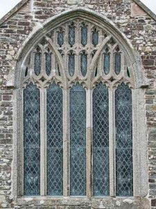 Stone Window Exterior Carving Plain Granite South Aisle 15th Century Medieval Burrington