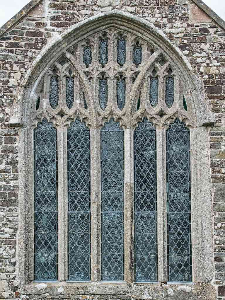 A large Perpendicular window from the 1400s