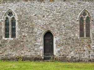 Stonework Priest Door Window 14th Century Medieval Bradford