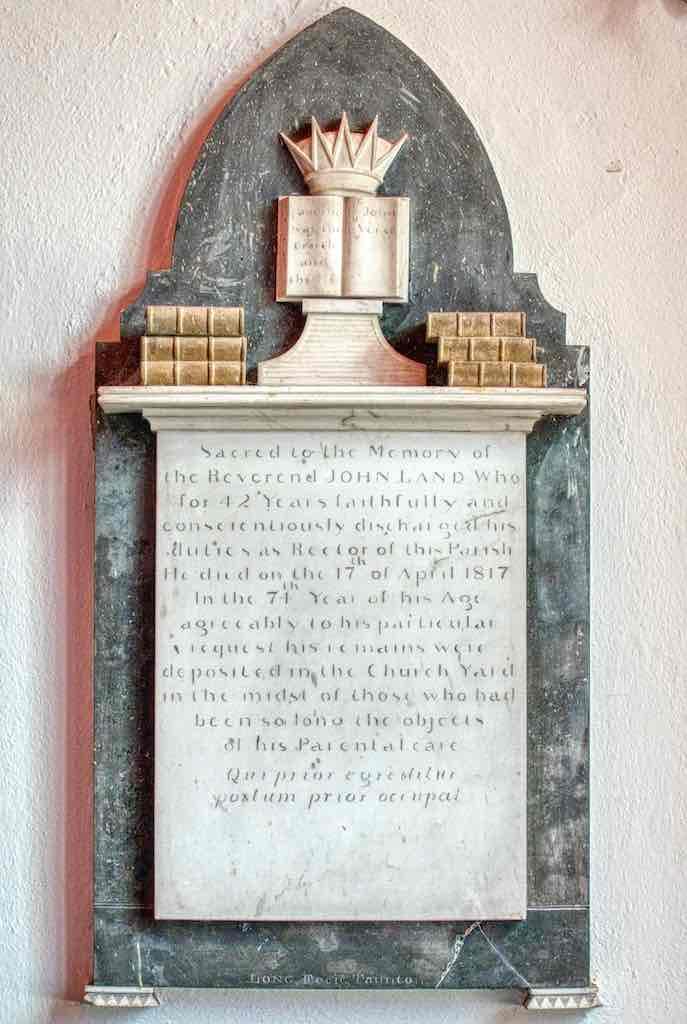 1917 memorial to the Rev Land