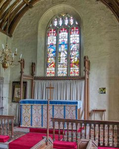 Chancel Altar East Window 15th Century Medieval Ashton