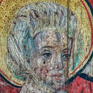 Chancel Parclose Grisaille Paintings Incarnation Of Christ Visitation Saint Elizabeth Sacred Art 15th Century Medieval Ashton