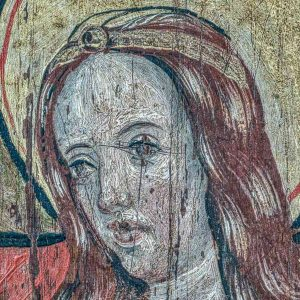 Chancel Parclose Grisaille Paintings Incarnation Of Christ Visitation Virgin Mary Sacred Art 15th Century Medieval Ashton