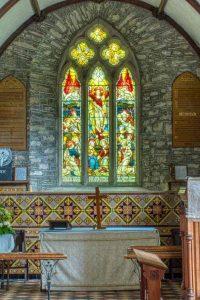Chancel Wall Tiles Altar East Window Victorian 19th Century Marystow