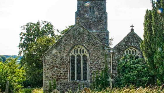 Church Exterior Chancel West Tower 15th Century Medieval Ashton