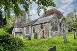 Church Exterior Porch Stonework Granite 15th Century Medieval Marystow