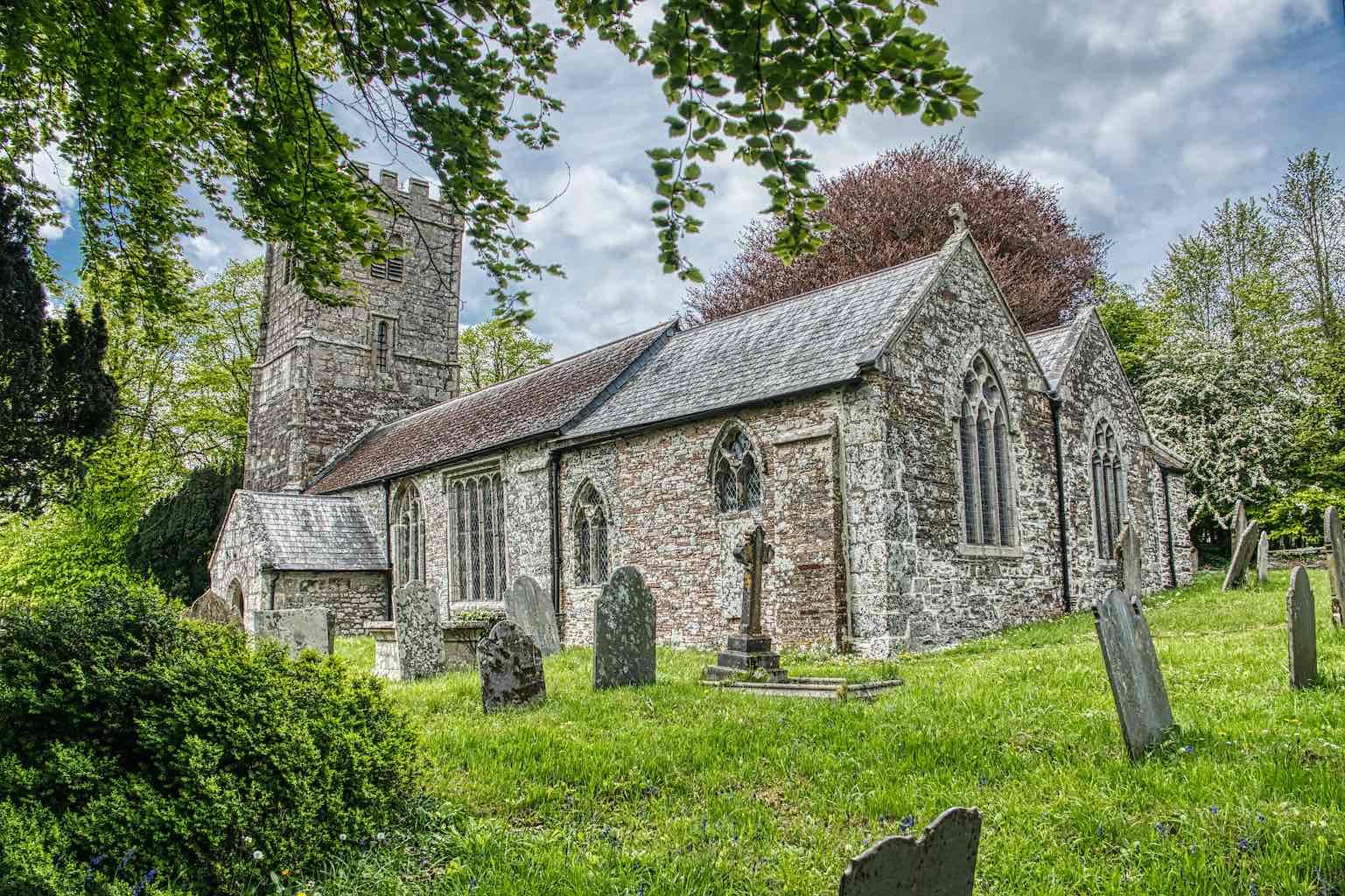 The 15th century Marystow Church of St Mary The Virgin