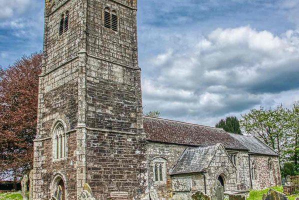 Church Exterior West Tower Porch Stonework Granite 15th Century Medieval Marystow
