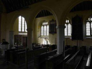 Church Interior Pillar Window Light Peace 15th Century Medieval Ashton