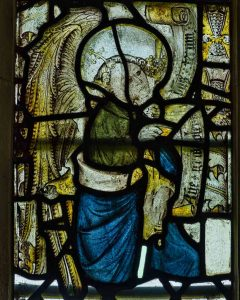Medieval Stained Glass Angel Gabriel Annunciation Sacred Art 15th Century Medieval Ashton