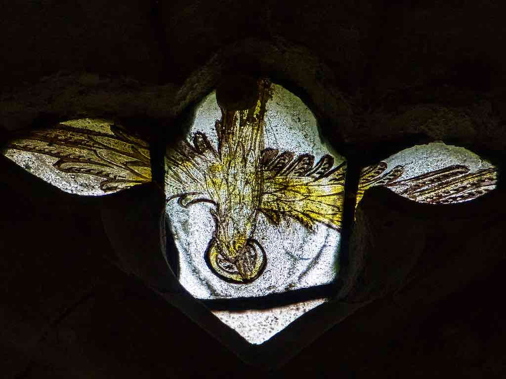 Medieval Stained Glass Holy Spirit 15th Century Medieval Ashton