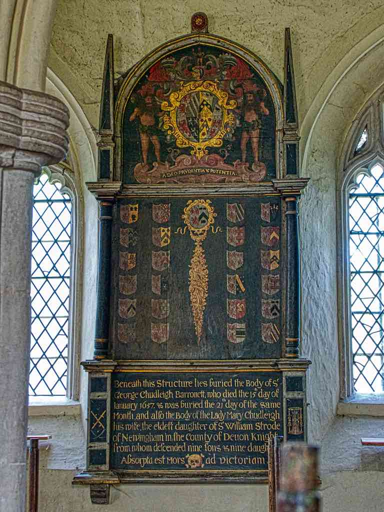 The 1657 memorial to George Chudleigh