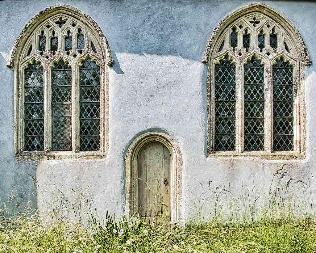 The priest's door with old windows