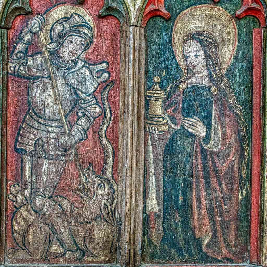 St George and Mary Magdalene on the rood screen