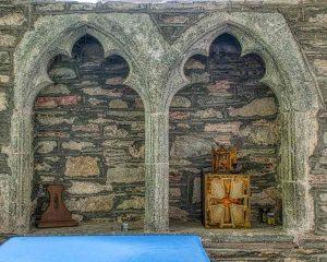 Sedilia Stone Carving Plain 14th Century Medieval Marystow