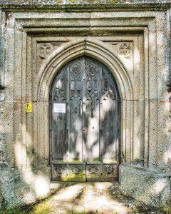 West Door Volcanic Stone Carving Plain 15th Century Medieval Ashton
