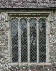 Window Exterior Stonework Stone Carving Plain Granite 16th Century Medieval Marystow