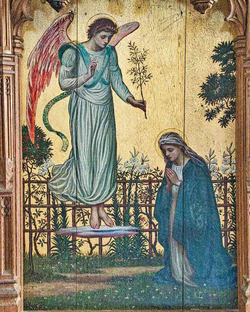 Did I already say gorgeous? Because drop dead gorgeous it is, this Annunciation