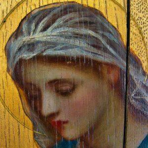 Altar Back Christ Painting Annunciation Virgin Mary Pre Raphaelite Edward Fellowes Prynne 19th Century Victorian Manaton