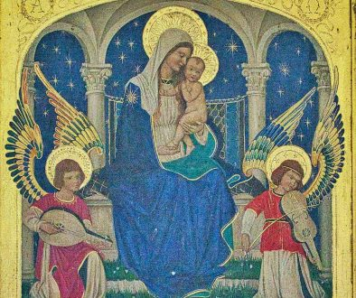 Altar Back Reredos Nativity Angels Virgin Mary Christopher Webb 20th Century Brentor