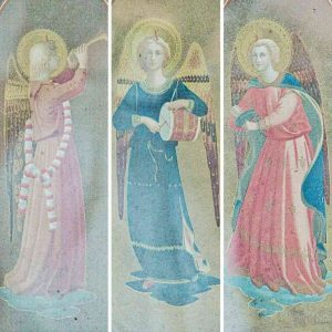Angels Painting Altar Back Victorian 19th Century Brentor