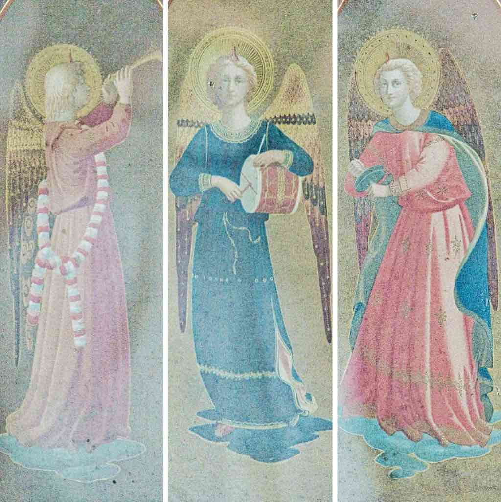 Pretty angels probably from the previous Victorian altar back