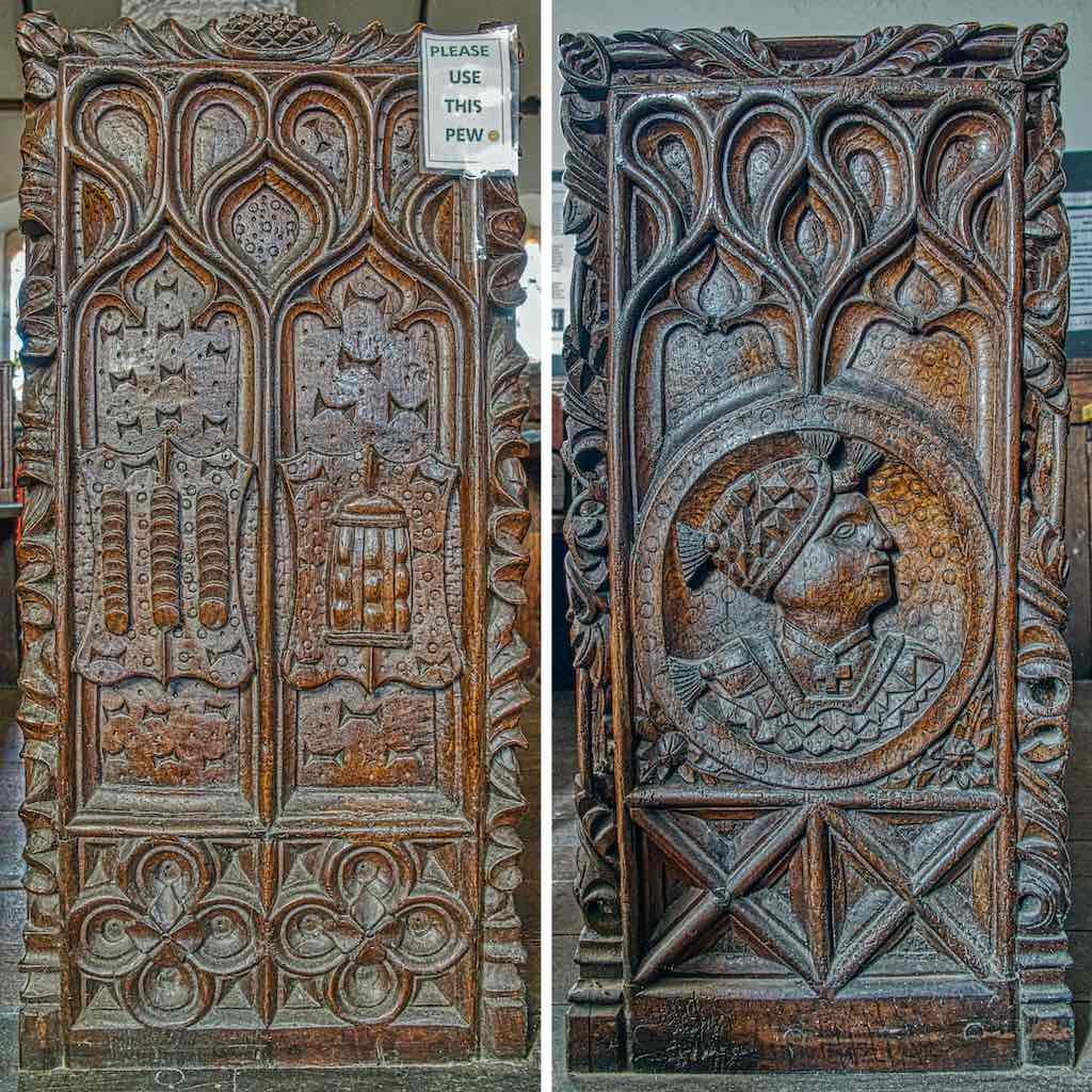 A couple of marvellous 16th century bench ends