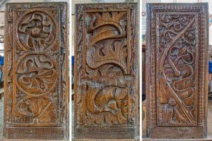 Bench Ends Wood Carving Plain Foliage 16th Century Medieval East Budleigh