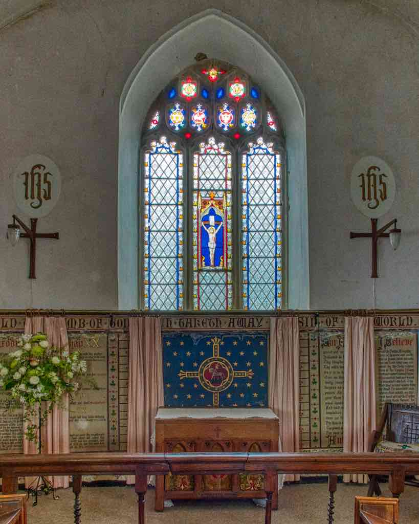 The chancel was re-done in the Victorian age