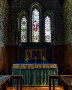 Chancel Altar East Window Victorian 19th Century Brentor