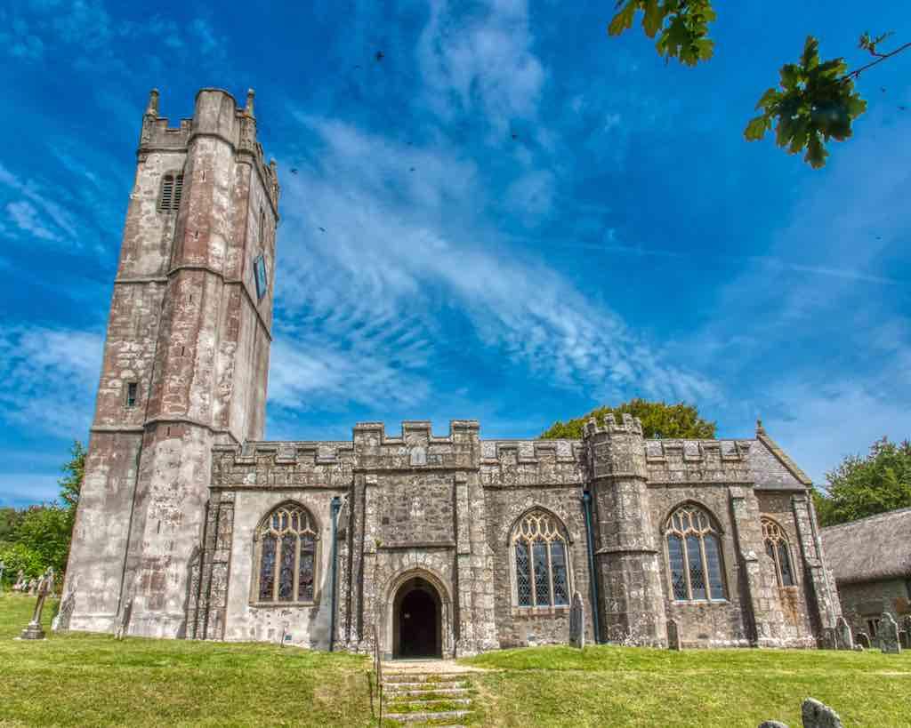 The 15th century Manaton Church of St. Winifred, vey granite, very, very granite
