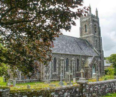 Church Exterior Stonework Victorian 19th Century Brentor