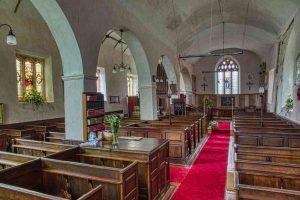 Church Interior Nave Pillar Pews Knowstone