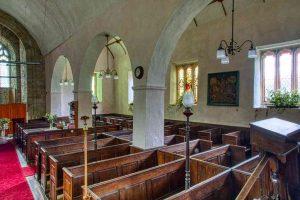 Church Interior Nave Pillar Pews Window Knowstone