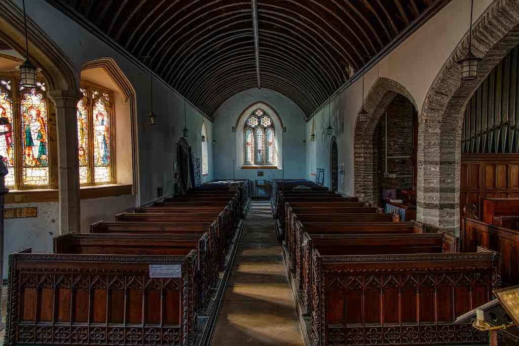 Soft light in the church